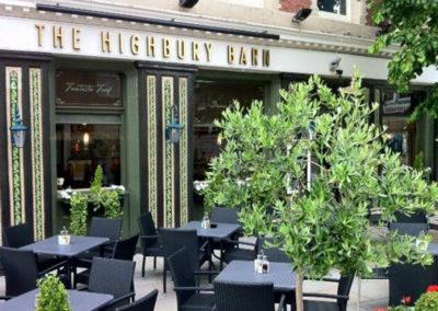 Come sit in the sun at The Highbury Barn