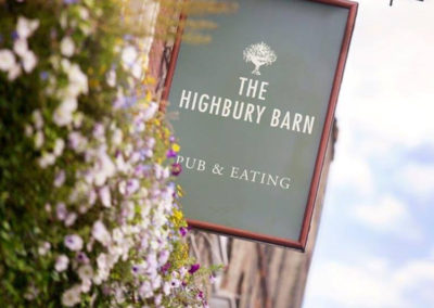 The Highbury Barn, a sign of quality