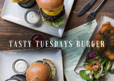 Try our 'Tasty Tuesday's' Burger Offer